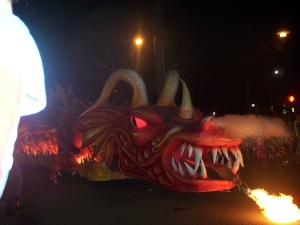 Dragon float.